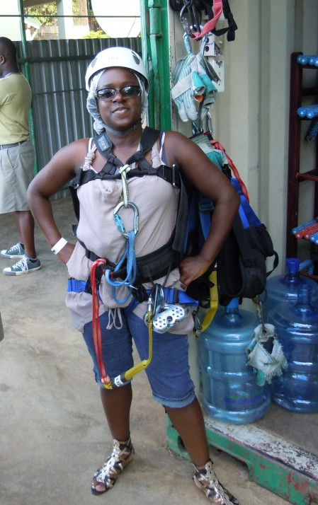 Ready for the Zip Line! Ocho Rios, JA