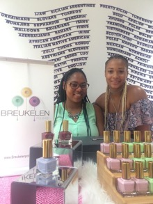 Breukelen Polished, a nail polish line started by best friends Ariel Terry and Tauaishu Porter (left to right).