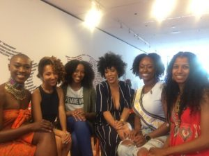 """Hair and Our Perception of Beauty"" panelists (from left to right): Nell Coleman, Afroista Tessa Kagbala, Stephanie B., Taylor Gordon, Alicia Davis and Tamara A."
